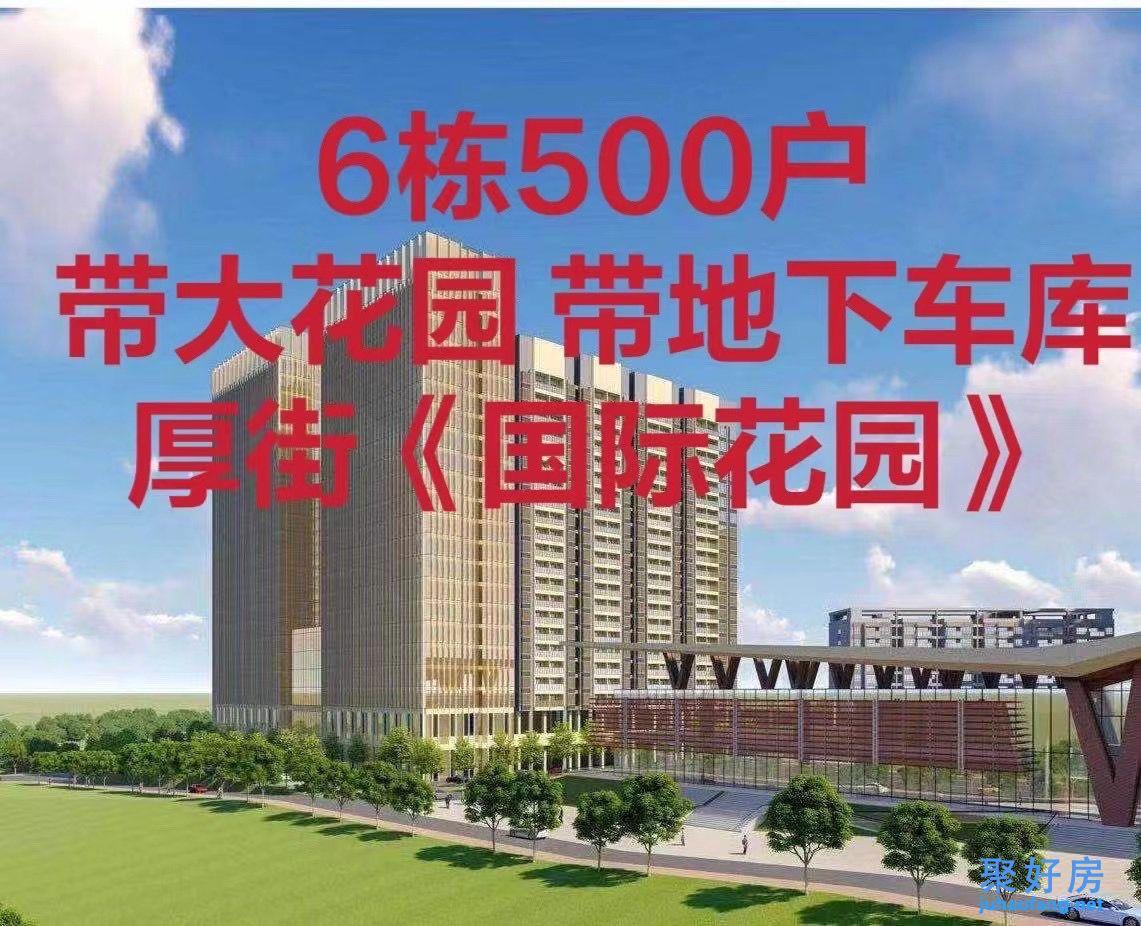 东莞厚街大型统建楼【国际花园】6栋500套封闭式花园小区6980元/㎡起